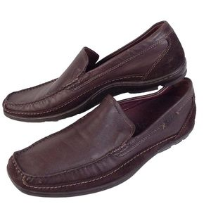 ECCO mens 47 US 13 M brown leather mocs loafers
